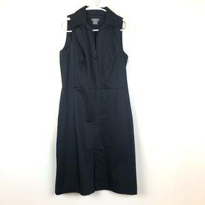 Ann Taylor Petites Black Sleeveless Dress 4P